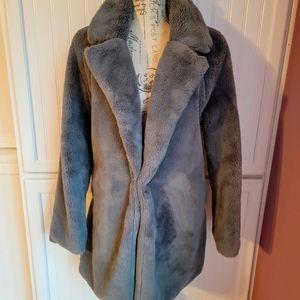 Luxurious Faux Fur Aviator Style Winter Jacket Size M/L